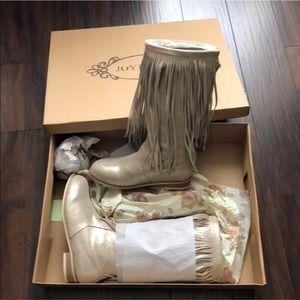 Joyfolie baby girls fringe boots sz 9 NWT 🎁